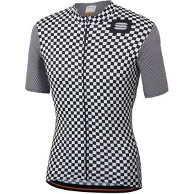 Sportful Checkmate Maillot de cyclisme Homme, white black
